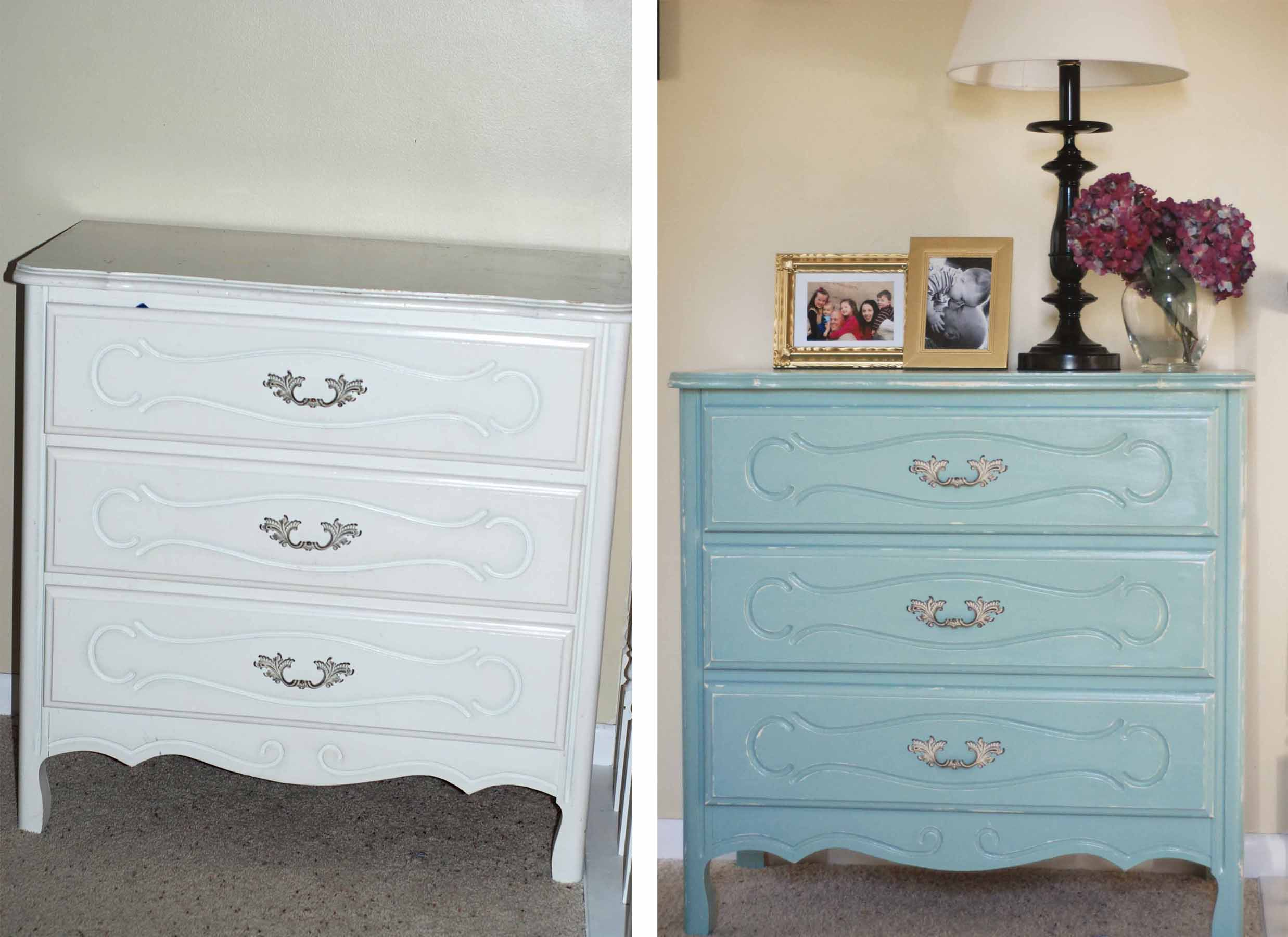 Weird Science Experimenting with Chalk Paint for a Dresser Makeover