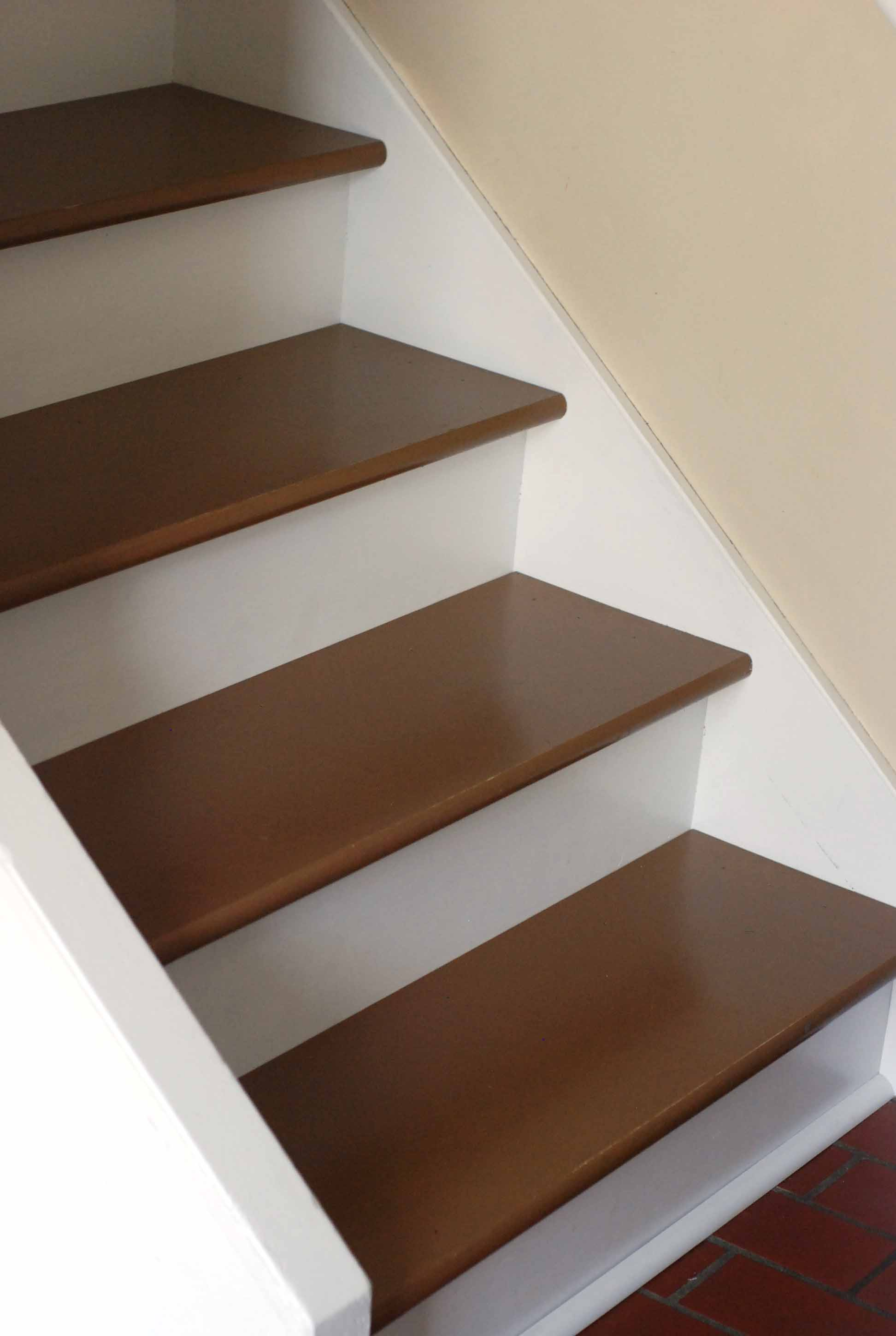Painted Steps Stairs Diy Makeover One Cherry Tree Lane